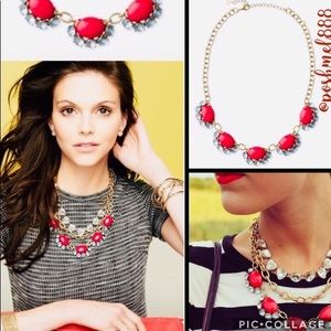 S&D🍒💎⚜️CherryRed Vintage Mae Statement Necklace